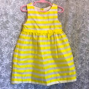 Dressed Up by Gymboree Yellow/White Stripes Dress